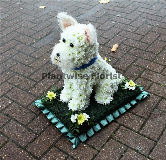 West Highland Terrier Dog Funeral Flower Wreath Funeral