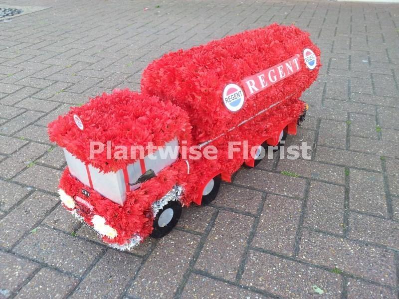 Regent Oil Tanker Lorry 3d Funeral Flower Wreath Funeral