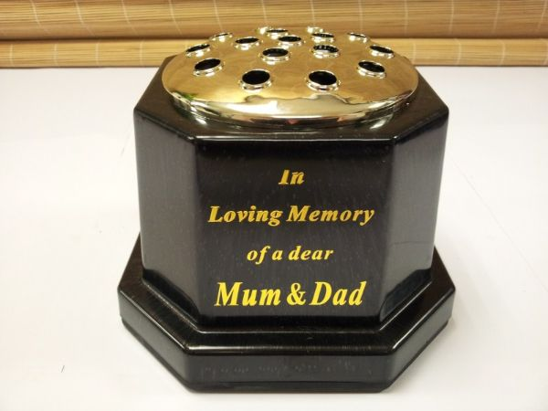 In Loving Memory Of Mum And Dad Grave Vase Memorial Pot Funeral Fl