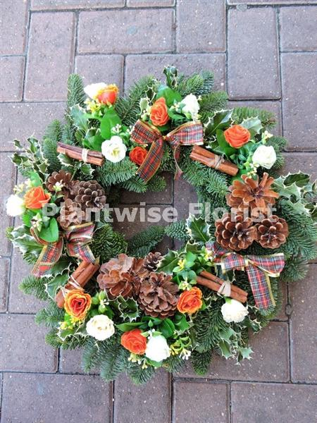 A Large Fresh Christmas Pine Wreath For Cemetery Luxury Design 2