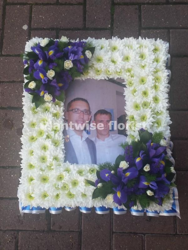 Photo Frame Wreath for an A4 Photo - Funeral Flowers Canvey Island