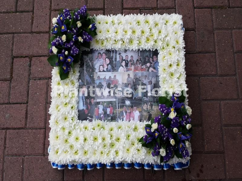 Photo Frame Wreath For Large A3 Photo Funeral Flowers Canvey