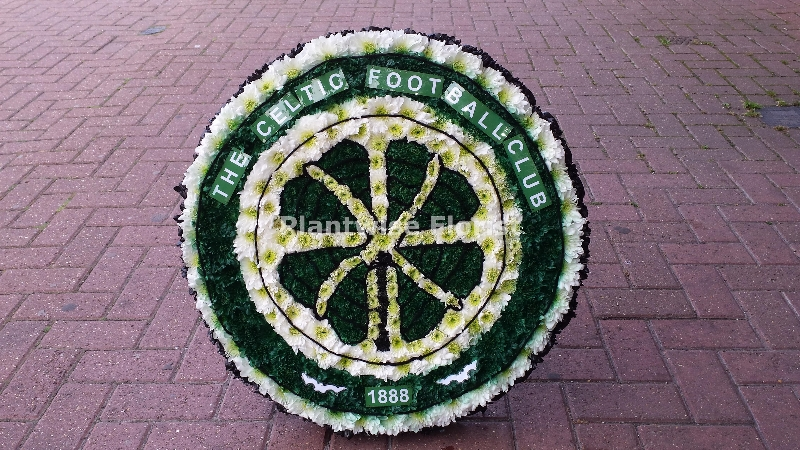 Celtic Football Club Logo Badge Made As Funeral Flower Wreath